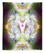 Angel Of Positive Thoughts Fleece Blanket