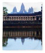 Angkor Wat Reflection Fleece Blanket