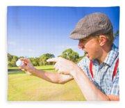 Angry Golf Fleece Blanket
