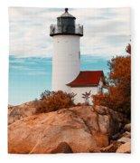 Annisquam Lighthouse Fleece Blanket