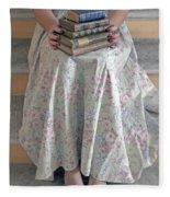 Antique Books Fleece Blanket