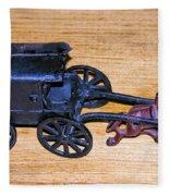 Antique Cast Iron Toy Fleece Blanket