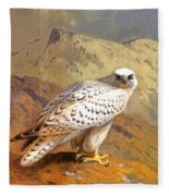 Greenland Falcon Fleece Blanket