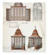 Architecture In Wood, C.1900 Fleece Blanket