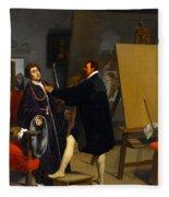 Aretino In The Studio Of Tintoretto Fleece Blanket