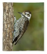 Arizona Woodpecker Fleece Blanket
