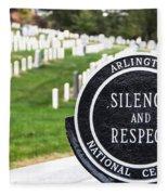 Arlington National Cemetery Part 1 Fleece Blanket