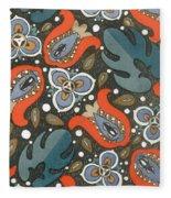 Art Deco Phone Case Fleece Blanket