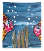 Art Fish Fleece Blanket