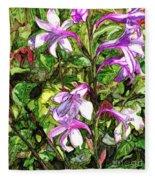 Art In The Garden II Fleece Blanket
