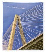 Arthur Ravenel Jr. Bridge 2 Fleece Blanket