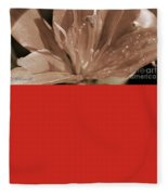 Asiatic Lily Named Red Twin Fleece Blanket