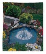 At The Pond Fleece Blanket