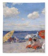 At The Seaside Fleece Blanket