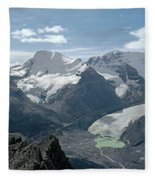 T-303504-athabasca Glacier In 1957 Fleece Blanket