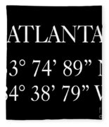 Atlanta Coordinates Fleece Blanket