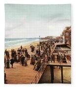 Atlantic City Boardwalk 1900 Fleece Blanket