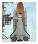 Atlantis Space Shuttle Fleece Blanket