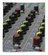 Audio Mixing Board Console Fleece Blanket