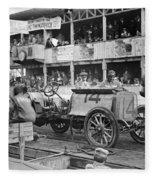 Auto Racing, 1910 Fleece Blanket