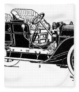 Automobile, 1907 Fleece Blanket