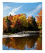 Autumn At The Lock And Dam Fleece Blanket