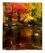 Autumn Colors Reflected Fleece Blanket