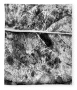 Lonely Leaf Fleece Blanket