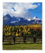 Autumn Fences Fleece Blanket