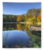 Autumn Lake Fleece Blanket