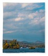 Autumn On Lake George Fleece Blanket