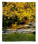 Autumn Pond 2013 Fleece Blanket
