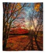 Autumn Shadows Fleece Blanket