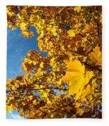 Autumn Splendor 9 Fleece Blanket