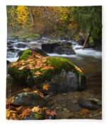Autumn Stream Fleece Blanket
