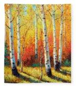Autumn's Glow Fleece Blanket