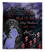 Back To Black Fleece Blanket