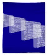Background Numbers Fleece Blanket