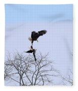 Bald Eagle Courtship Ritual  1338 Fleece Blanket