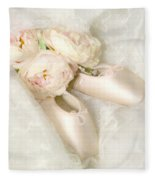 Ballet Shoes Fleece Blanket