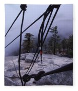 Bandaloop Dance Company, Yosemite, Ca Fleece Blanket