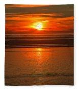 Bandon Beach Sunset Fleece Blanket