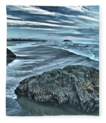 Bandon Beach Swirls Fleece Blanket