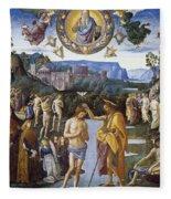 Baptism Of Christ Fleece Blanket