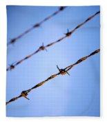 Barbed Wire Close Fleece Blanket
