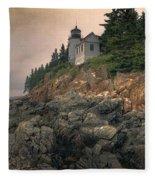 Bass Harbor Head Light II Fleece Blanket
