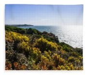 Bass Strait Ocean Landscape In Tasmania Fleece Blanket