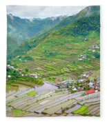 Batad Village And Unesco World Heritage Fleece Blanket
