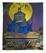 Batman On The Roof Top Fleece Blanket