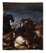 Battle Of Saint-quentin Fleece Blanket